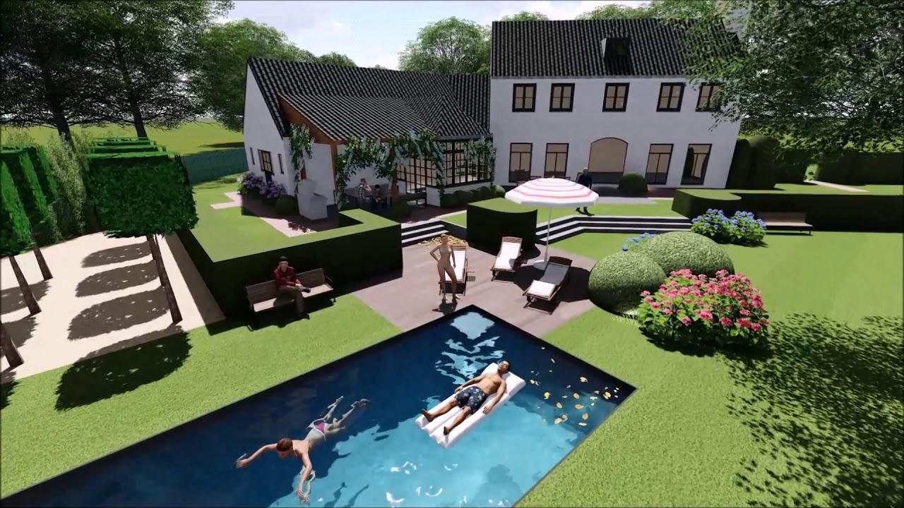 T groene plan tuinplan 3d youtube