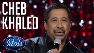 Download Cheb Khaled Sings live On Arab Idol | Idols Global  الشاب خالد - عيشة Mp3 and Videos