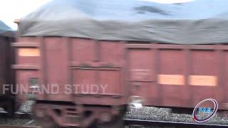indian locomotive goods train with 120 bogies