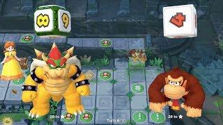 Super Mario Party - Domino Ruins Treasure Hunt (Bowser/Donkey Kong vs Bowser Jr/Hammer Bro)