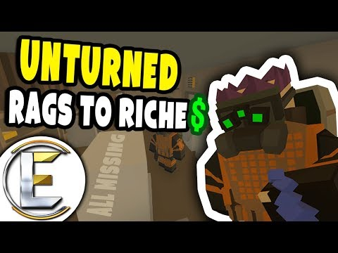 Richest Player Gets Robbed | Unturned Roleplay Rags to Riches #17 - Helping out a Neighbour