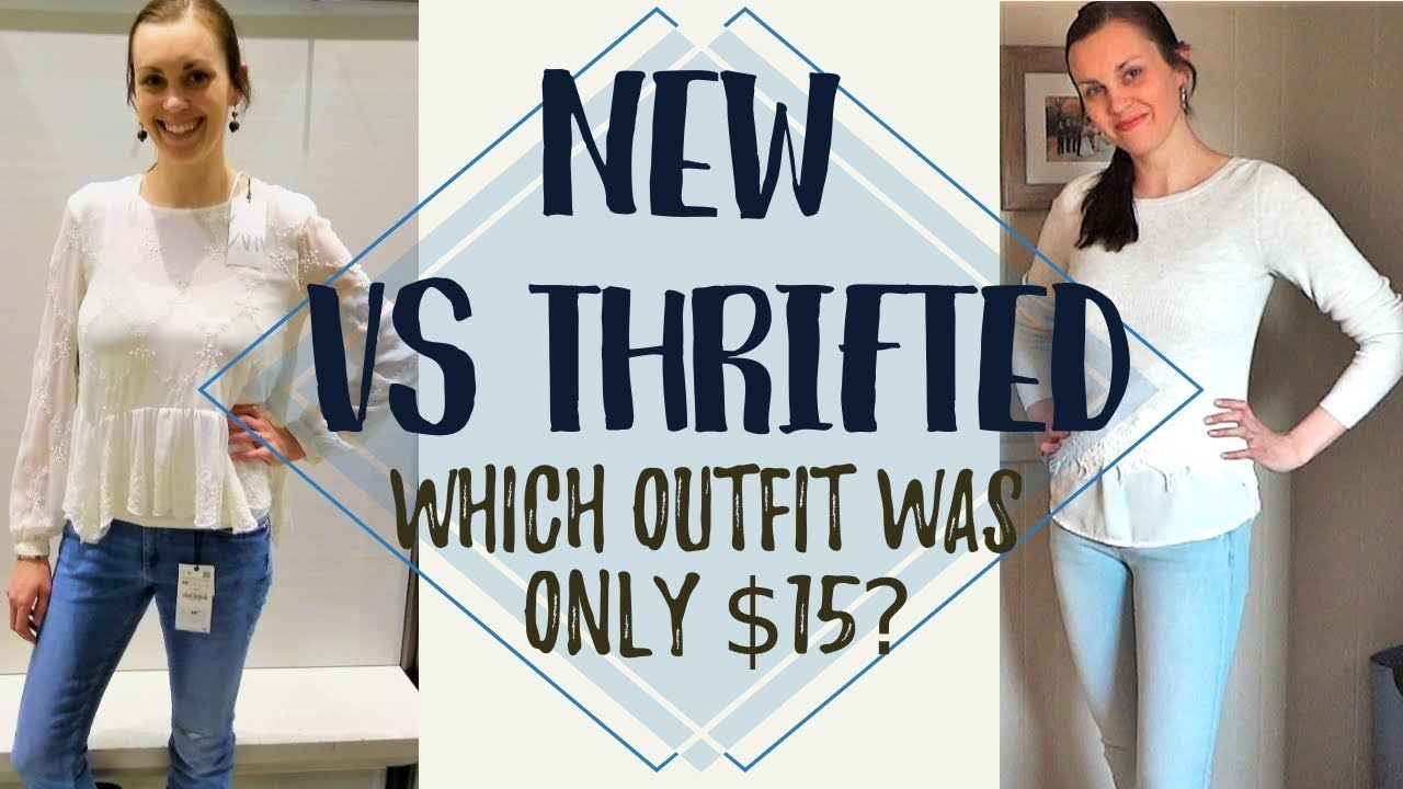 [VIDEO] - Thrifted look for less challenge//Spring 2019 second hand outfits 2