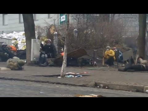Euromaidan - Riot police and snipers kill protesters in Kiev Ukraine