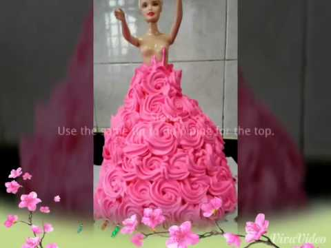 Barbie Doll Cake Easy Method