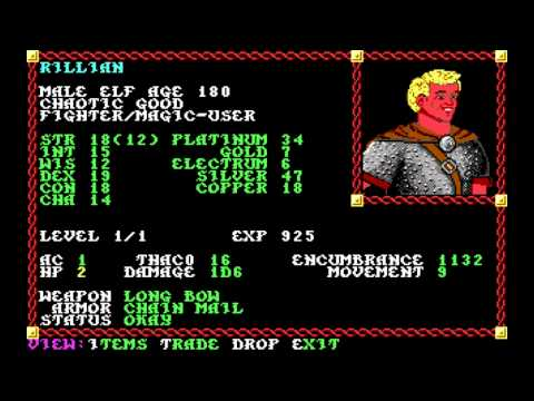 Let's Play Pool of Radiance Part 3 (The Story of Ferran Mart