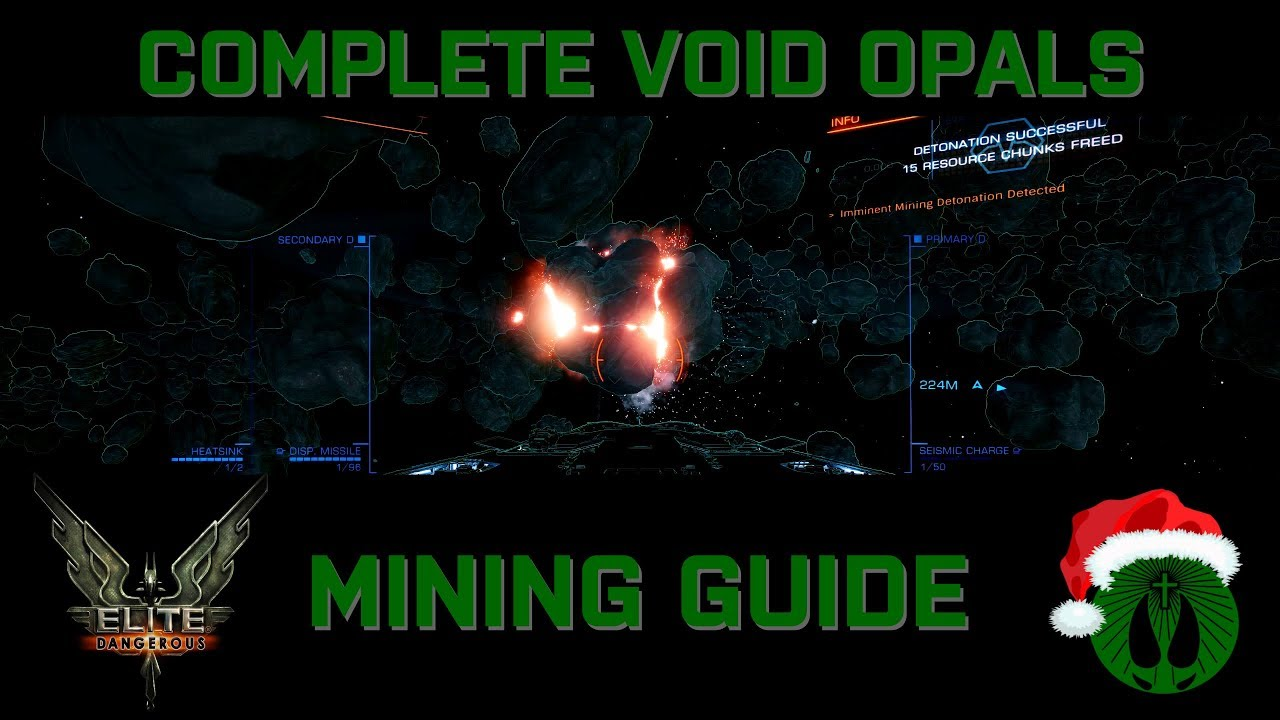 Elite Dangerous - COMPLETE Void Opal Mining Tutorial - From A-Z