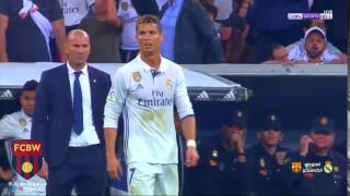 Cristiano Ronaldo reaction after Messi last minute goal | 23.04.2017