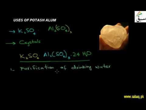 Uses of Potash Alum
