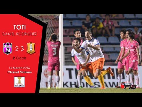 Toti - 2 GOALS - Chainat FC 2-3 Bangkok Glass - Thai League 2016
