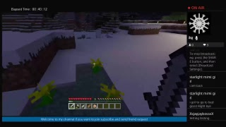 Minecraft first live stream read description below