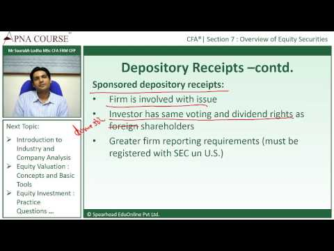 Chartered Financial Analyst | What are Depository Receipts?