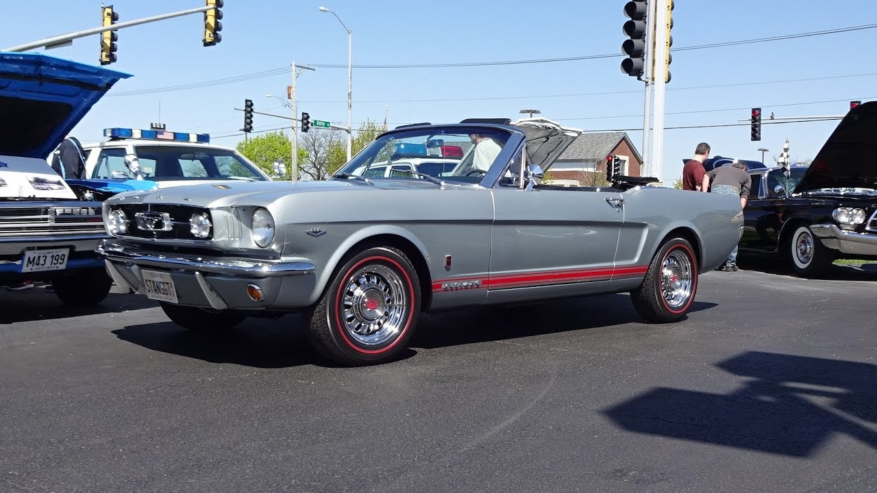1965 ford mustang gt convertible in silver gray engine sound on my car story with lou costabile