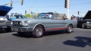 1965 Ford Mustang GT Convertible in Silver Gray & Engine Sound on My Car Story with Lou Costabile
