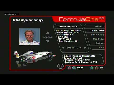Formula One 99 (teams and drivers) - Sony PlayStation - VGDB
