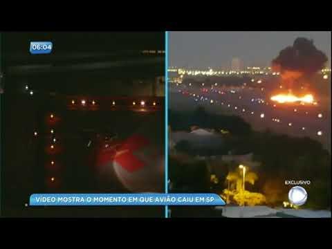 Vídeo mostra o momento em que avião caiu em São Paulo