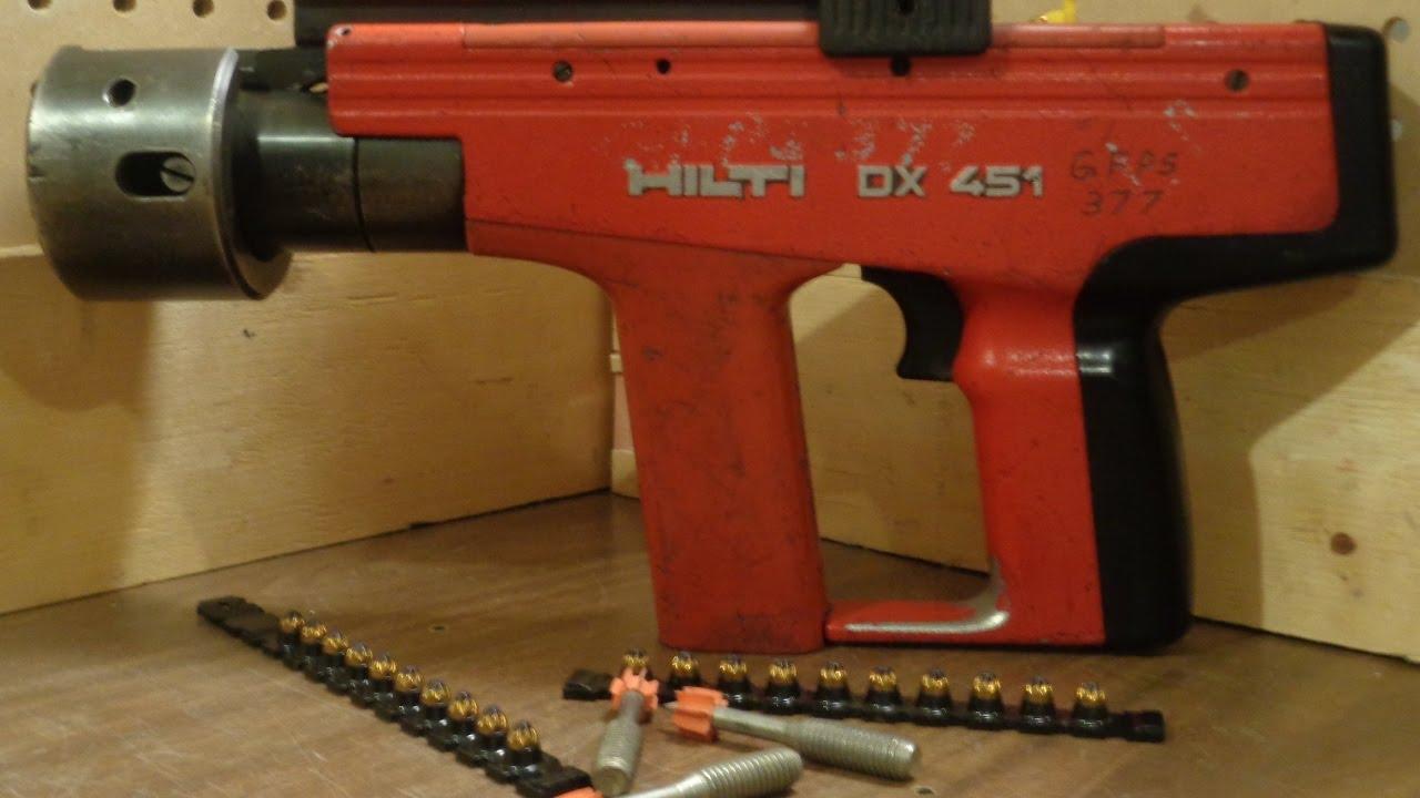 Array - hilti dx 451 heavy duty semi automatic powder actuated tool   youtube  rh   youtube com