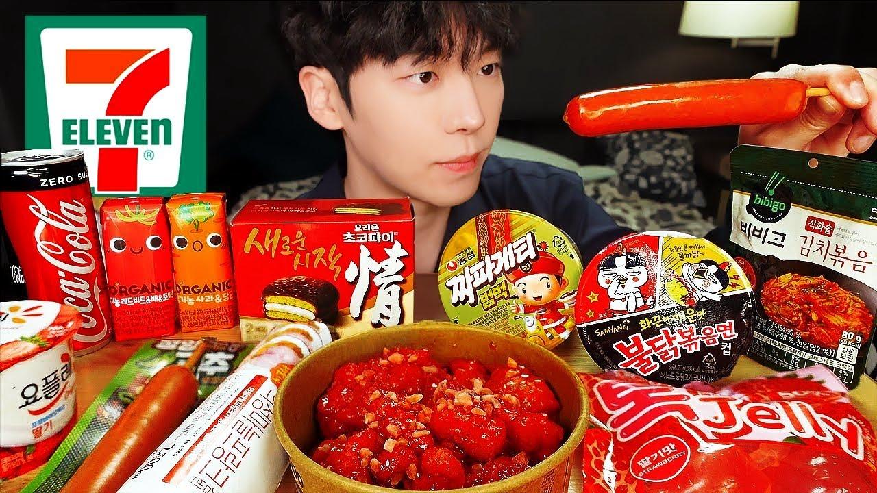 ASMR MUKBANG | 편의점 김치 라면 만두 불닭볶음면 양념치킨 김밥 디저트 먹방 & FRIED CHICKEN KIMCHI EATING