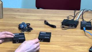 120m HDMI Over Ethernet Extender with IR Control