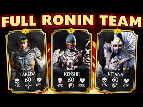 MKX Mobile 1.20. Full Ronin Team is INCREDIBLE! Crazy Damage by Ronin Kitana and Ronin Takeda! thumbnail
