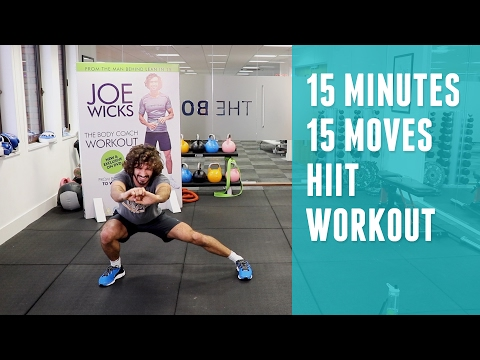 15 Minutes | 15 Exercises HIIT Workout | The Body Coach | Joe Wicks
