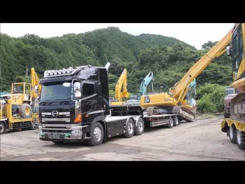 *デコトラ* トレーラー 清和運輸建設 ユンボの積み込み