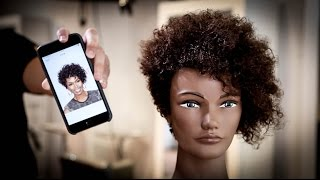 Curly Short Asymmetrical Haircut Tutorial | MATT BECK VLOG 71