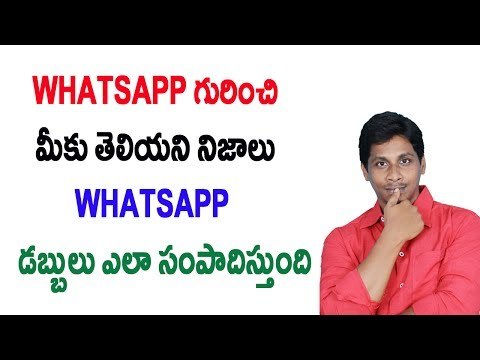 Unknown and real facts about whatsapp | business Model Telugu
