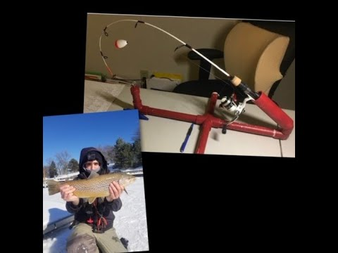 DIY Automatic Fisherman /tip-up (supper EASY And CHEAP To Build)