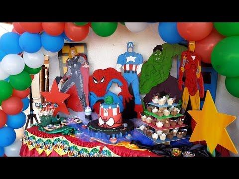 decoracion infantil los vengadores