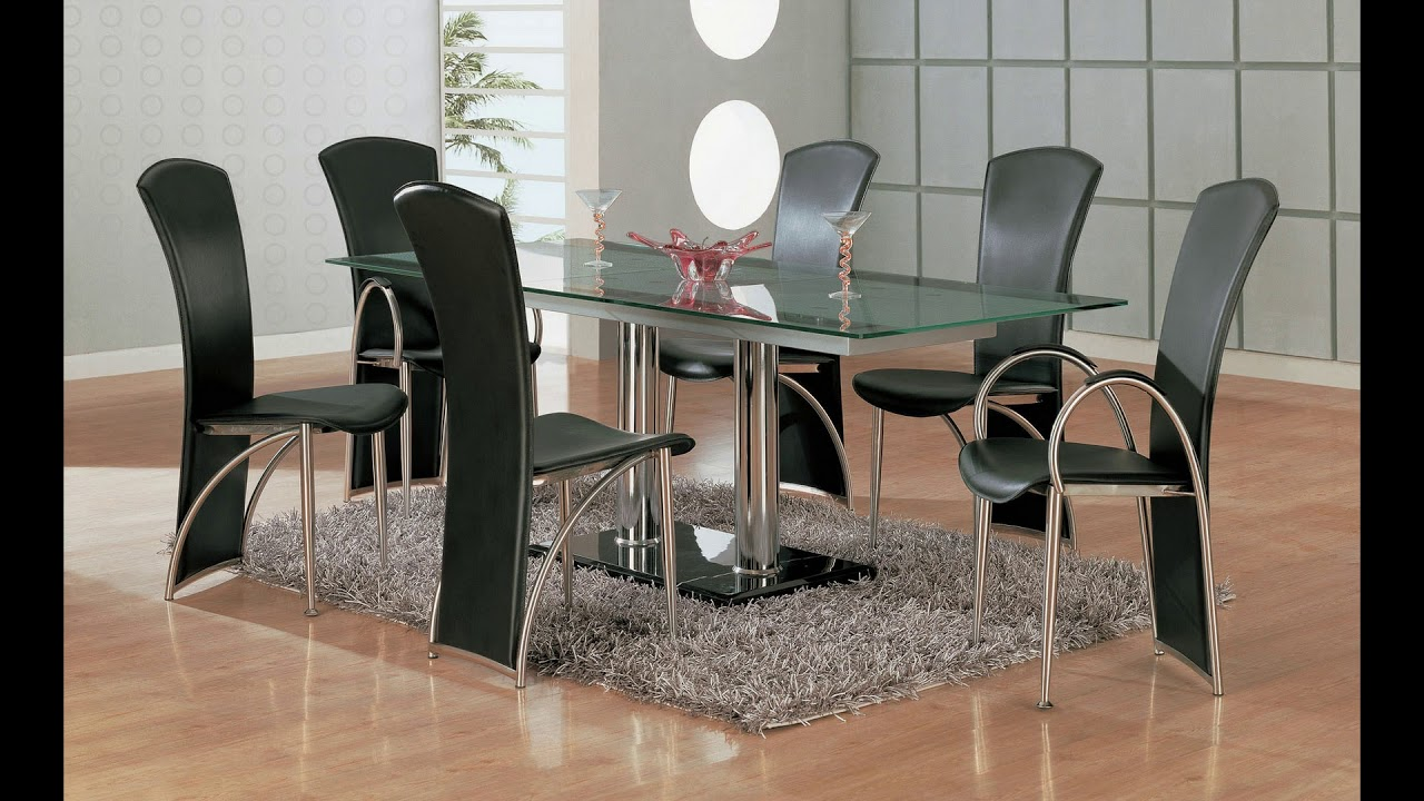 Glass Dining Table Design 2019 Glass Dining Table Set 2019 Youtube