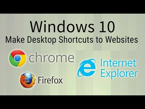How to Make Desktop Shortcuts to Websites with Chrome, Firefox, IE - Windows 10 Tutorial
