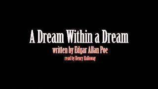 A Dream Within a Dream - Edgar Allan Poe