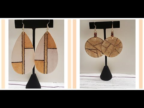 DIY Wood Burning - Earrings
