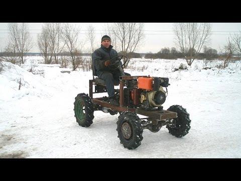 Самодельный мини трактор и все к нему