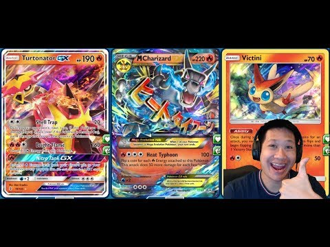 NITRO GX Mega CHARIZARD Deck, 500 DMG Hit, Fast 5 Energy GX
