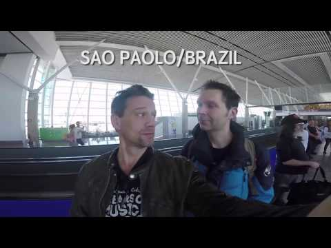 Thomas Lang on tour with Paul Gilbert South American leg 2017 Part 1