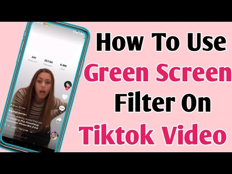 How To Add Green Screen Effect To Tiktok Video How To Use Green Screen Filter On Tiktok 2019 Youtube