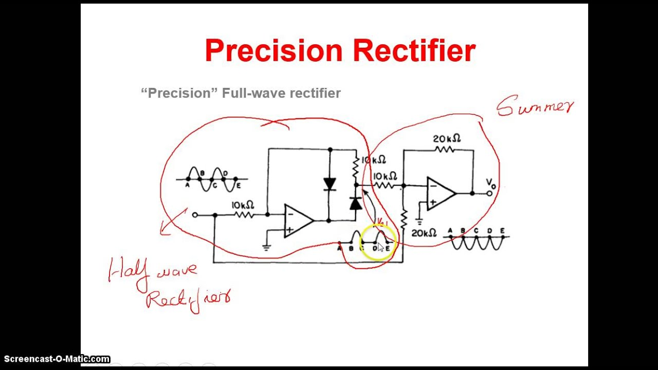 Rectifier Diagram Youtube Wiring Diagrams For Dummies Half Wave Unit 3 Video3 Precision Rh Com Kawasaki Root Mean Square Electrical