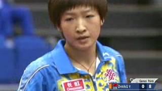 Table Tennis   Zhang Yining vs Liu Shiwen 2009