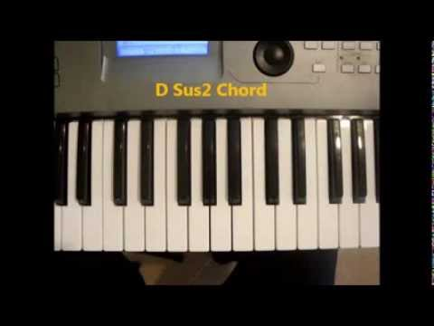 How To Play D Sus2 Chord On Piano Dsus2 Youtube
