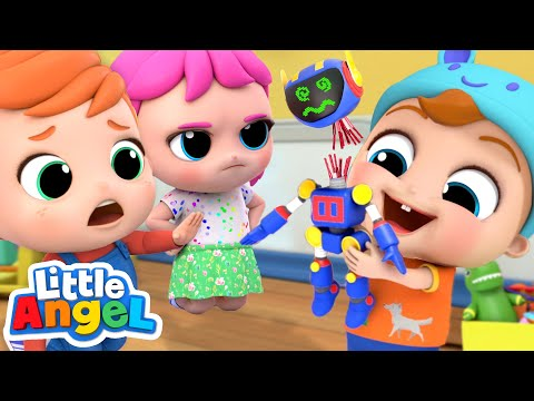Don't Break My Toys, Baby Brother | Playing Safely | Little Angel Kids Songs & Nursery Rhymes
