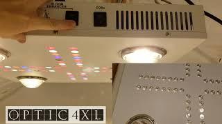New! Dimmable Optic 4XL - 460 Watt COB LED Grow Light - Flowers 4x4 - Big Yields - CREE CXB3590