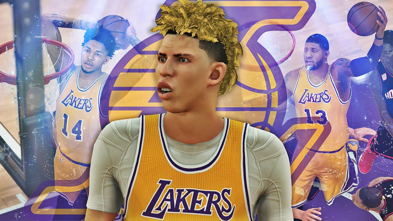 hot sale online 8e9b5 985c5 NBA 2K17 MyCAREER LaMelo Ball #5 - HALF COURT SHOT! The New Showtime Lakers!