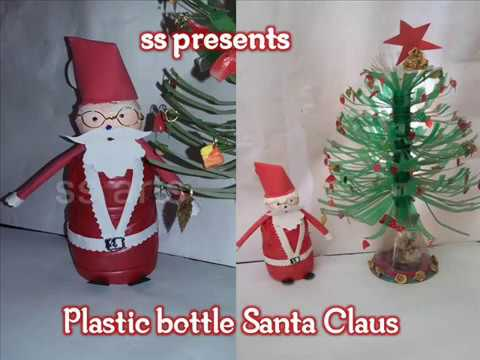 How to make Santa Claus with plastic bottle /Christmas ...