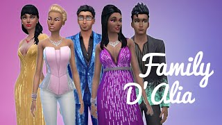 The Sims 4 CAS — D'Alia Family (Luxury Party Stuff Pack)