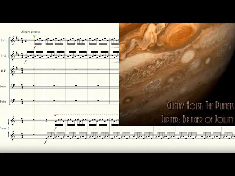 The Planets: Jupiter for Brass Quintet and Piano Sheet Music