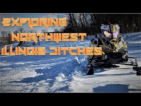 FIRST TIME EXPLORING SNOWMOBILE TRAILS AND DITCH BANGING ADVENTURE IN ILLINOIS