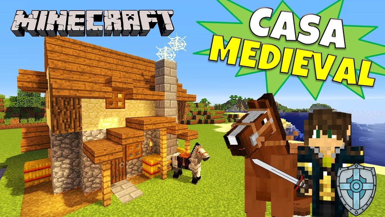 Minecraft tutorial casa medieval medieval house youtube for Casa moderna rey zerch