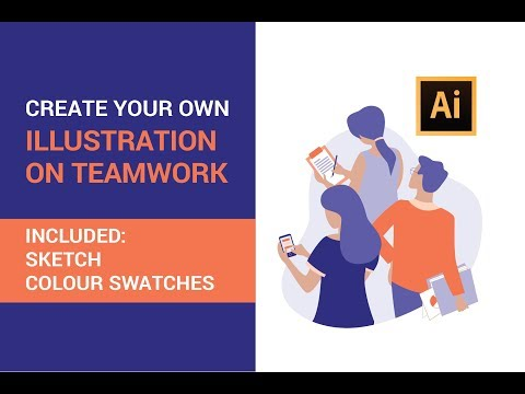 Adobe Illustrator tutorial - How to draw Illustration on Teamwork | Full Workflow (2019) thumbnail
