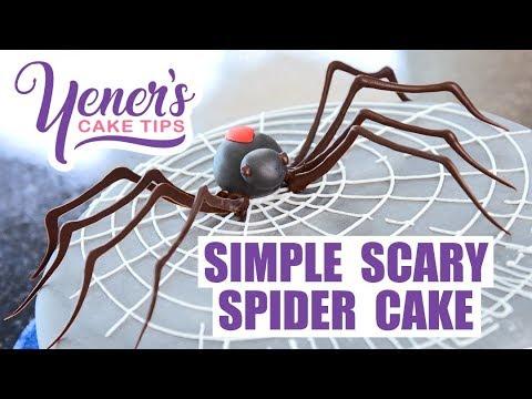 SIMPLE SCARY SPIDER CAKE Tutorial for Halloween | Yeners Cake Tips with Serdar Yener | Yeners Way